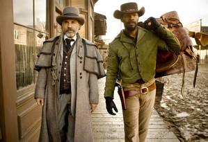 Christoph Waltz e Jamie Foxx em cena de 'Django livre', de Quentin Tarantino Foto: Reprodução