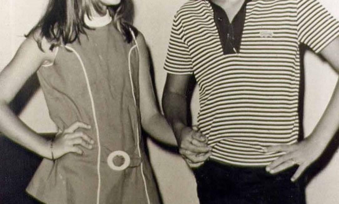 Xuxa e seu irmão Blad ainda crianças Foto: Reprodução