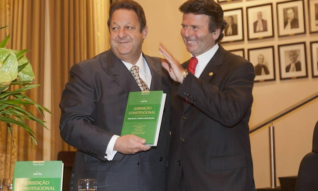 O ministro do Supremo Tribunal Federal Luiz Fux durante lançamento do livro Jurisdição Constitucional em evento no Tribunal de Justiça do Rio de Janeiro Foto: O Globo / Rafael Andrade