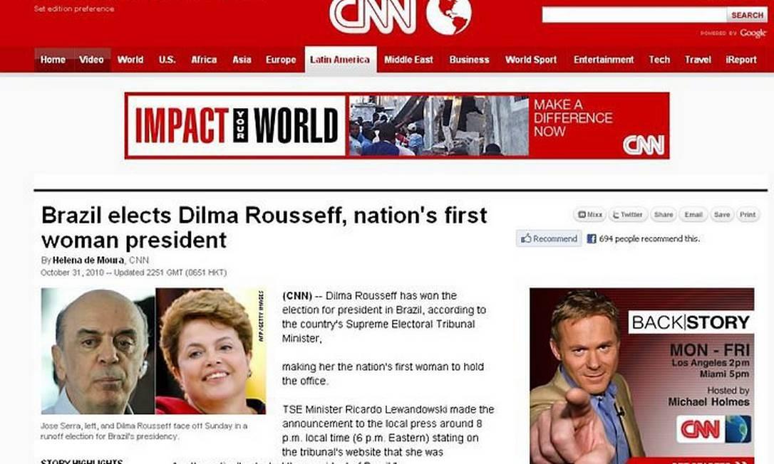 Rede de TV americana destava a vitória de Dilma no segundo turno das eleiçõesFoto: Reprodução
