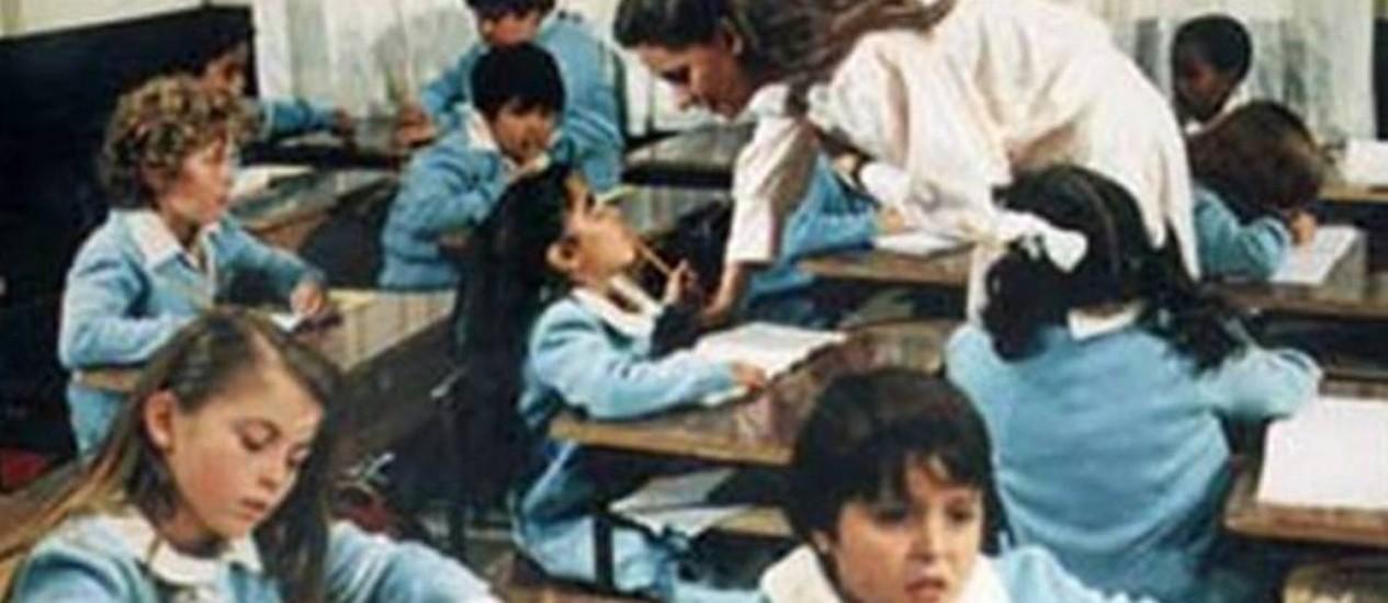 """Cena da versão mexicana de """"Carrossel"""", exibida aqui de 1991 a 1992 no SBT Foto: Reprodução"""