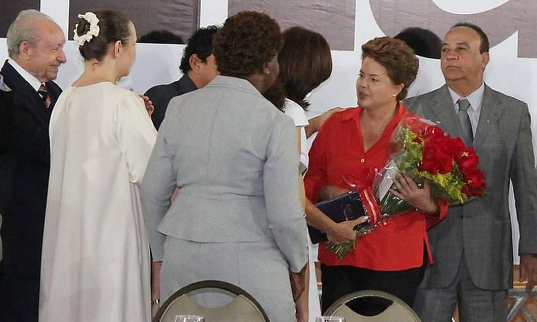 Dilma durante o encontro com lideranças religiosas, em Brasília - Foto de divulgação