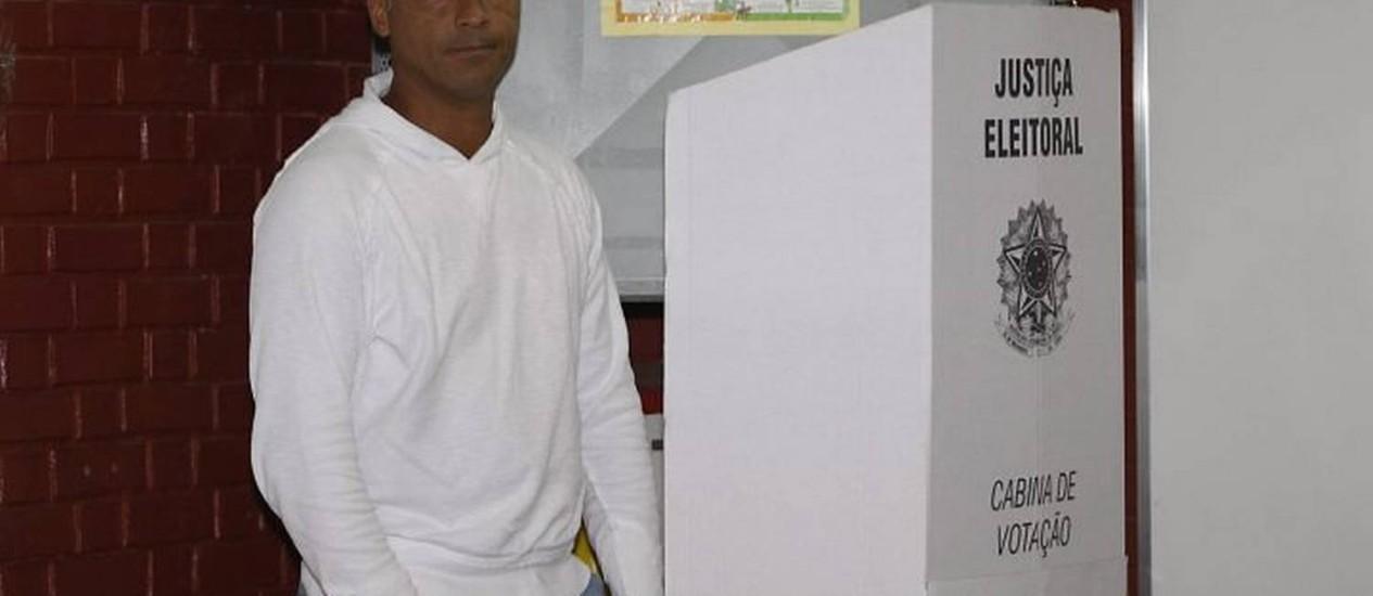 Romário no dia da votação