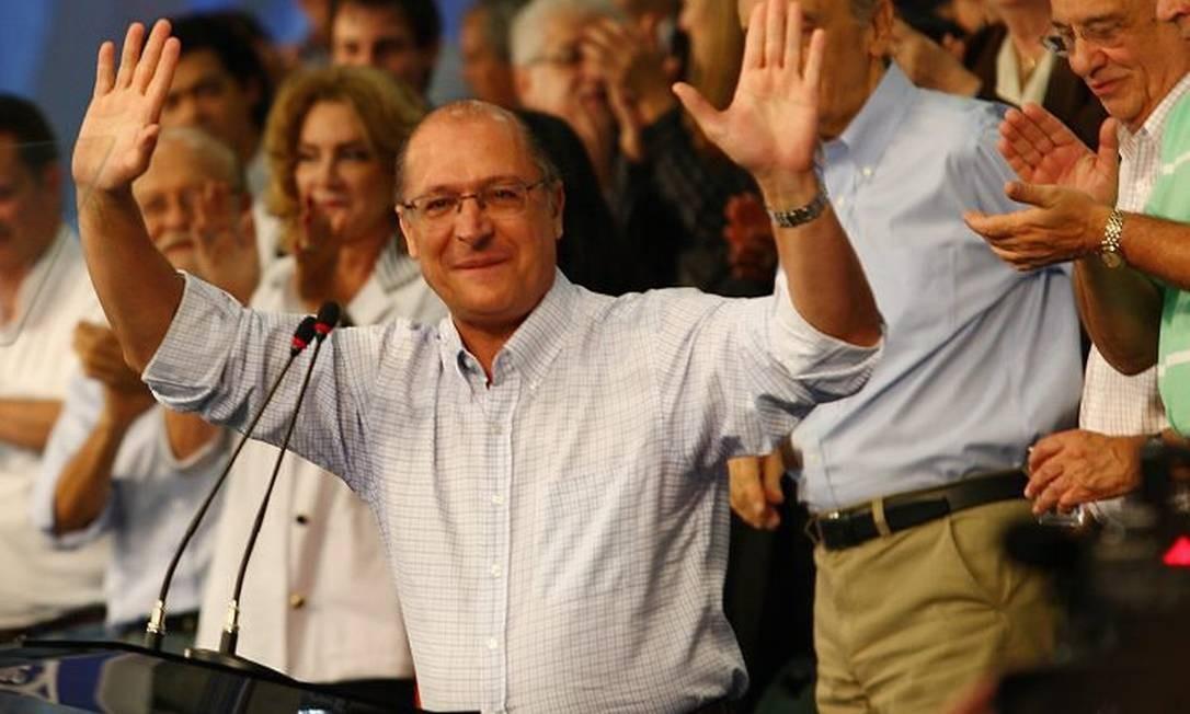 O candidato Geraldo Alckmin em foto de arquivo - Michel Filho