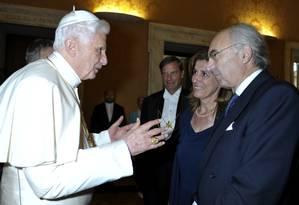 Presidente do Banco do Vaticano, Ettore Gotti Tedeschi, em foto de 2010 Foto: AP