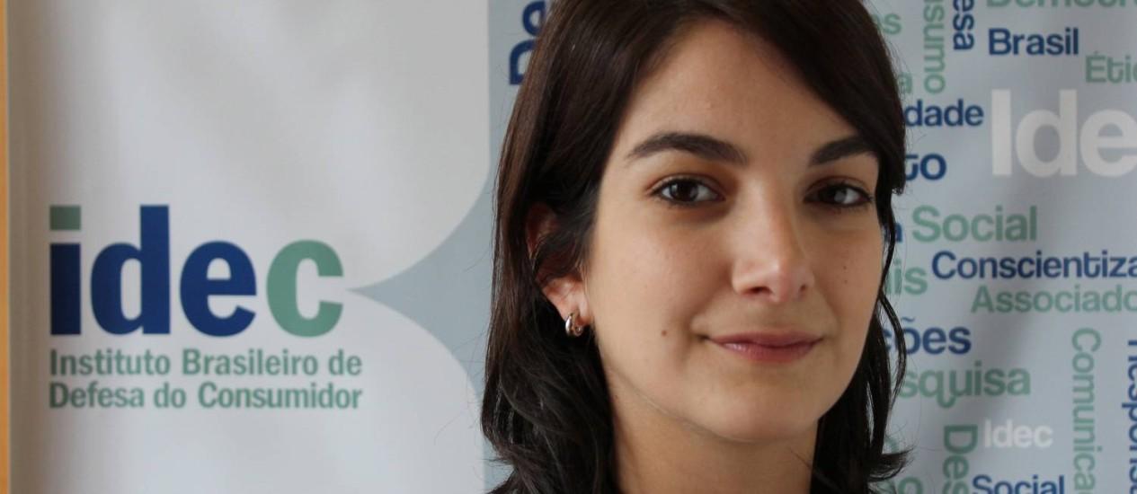 Advogada Joana Cruz, do Idec, acredita que a tipificação desta conduta como crime de omissão de socorro ajudará a coibir a prática pelos hospitais Foto: Terceiro / Agência O Globo