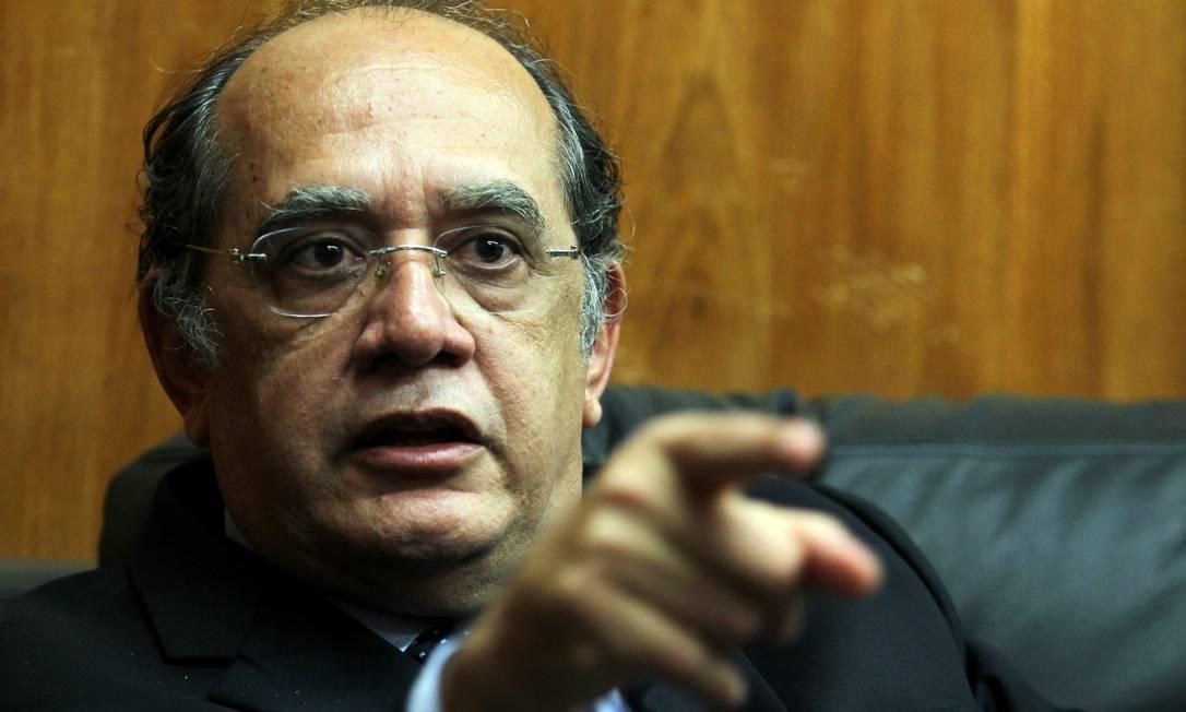 O ministro do Supremo Tribunal Federal Gilmar Mendes Foto: O Globo / Gustavo Miranda