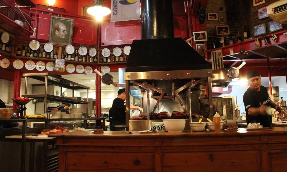 A parrilla El Pobre Luis, um dos melhores restaurantes de carne de Buenos Aires Foto: Bruno Agostini / O Globo