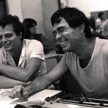 Nelson Jacobina e seu parceiro musical Jorge Mautner Foto: Agência O Globo / Antonio Andrade