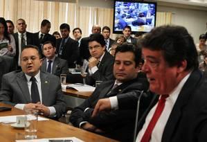 Deputado Silvio Costa xingou Pedro Taques e ficou revoltado com o silêncio de Demóstenes Foto: Agência O Globo / Givaldo Barbosa
