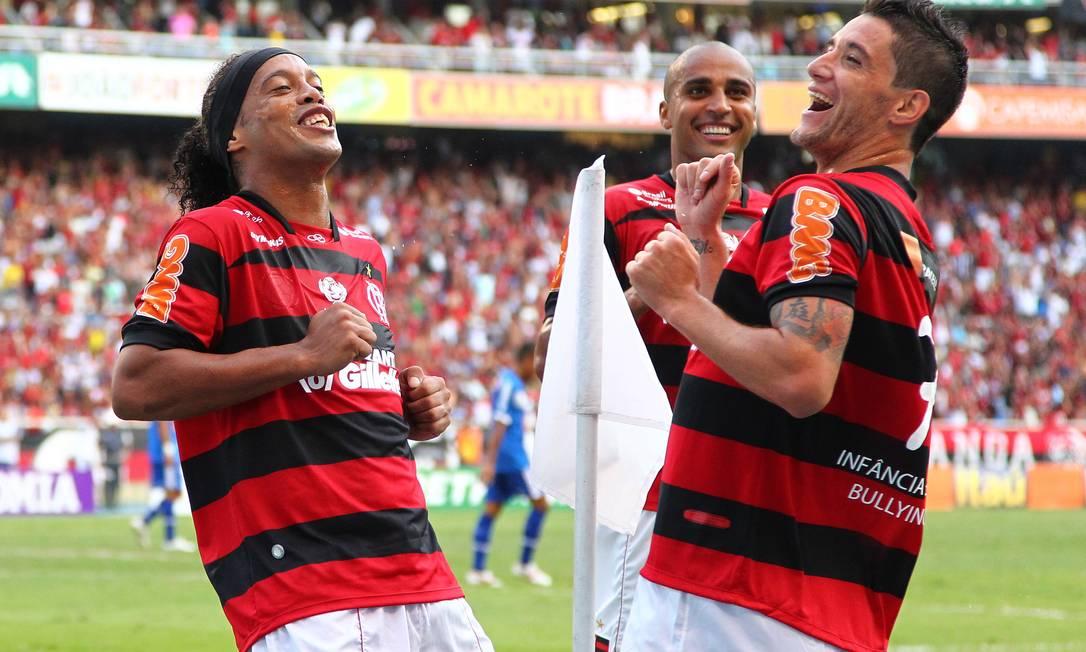Só alegria no jogo contra o Cruzeiro pelo Brasileirão Foto: Ivo Gonzalez