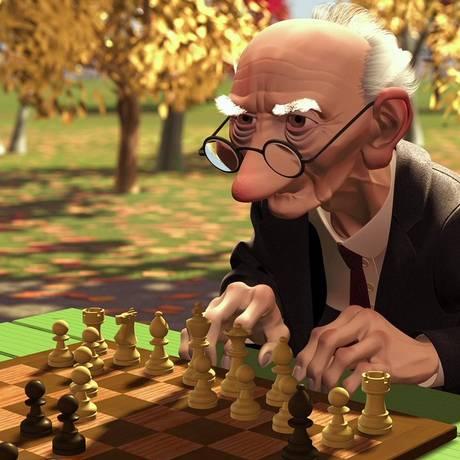 'Gery's game', de Jan Pinkava: curta levou o Oscar de animação em 1997 Foto: Divulgação