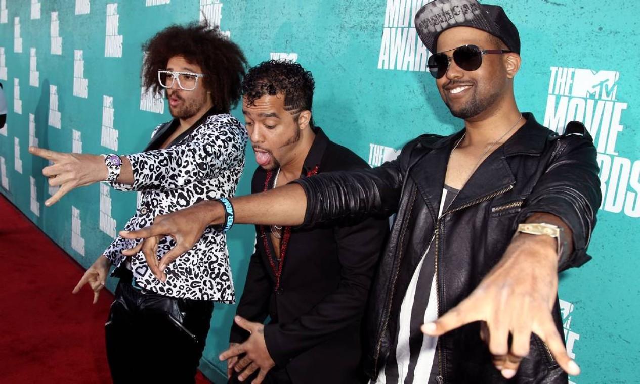 """O LMFAO levou o prêmio de melhor música por """"Party rock anthem"""" do filme """"21 Jump Street"""" Foto: AP"""