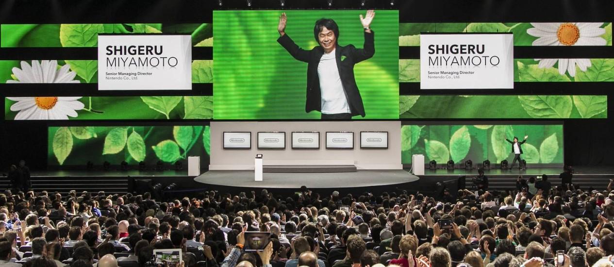 Shigeru Miyamoto, diretor-sênior da Nintendo, apresentou 'Pikmin 3' Foto: AP