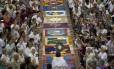 Os tapetes de sal, uma tradição do feriado de Corpus Christi