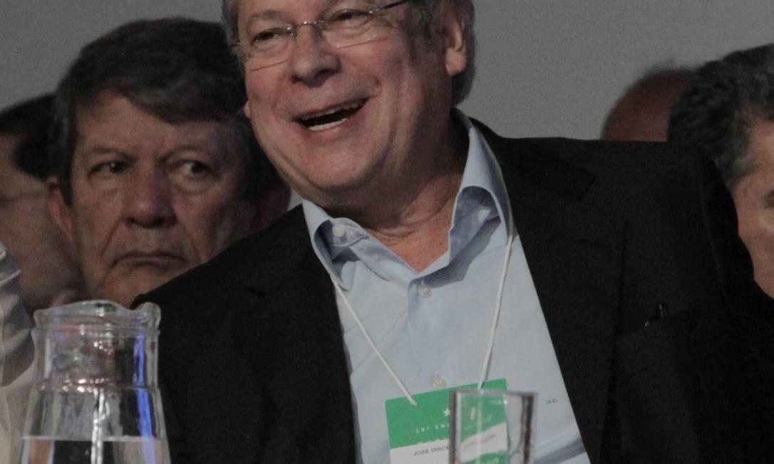 O ex-ministro e réu no escândalo do mensalão José Dirceu Foto: O Globo / Eliária Andrade