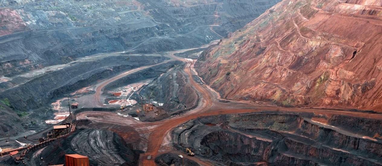 An iron ore mine in Pará, a Brazilian norhern state Foto: Agência O Globo / Michel Filho
