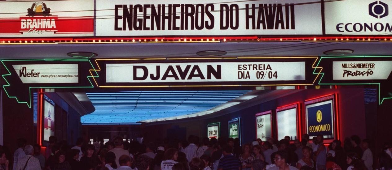 Antiga fachada da casa de show Imperator, no Méier Foto: Wiltonauar Mour/ 03.04.1992