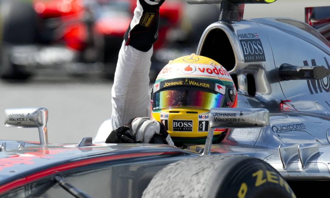Lowis Hamilton é o sétimo vencedor em sete corridas na F-1 em 2012 AFP