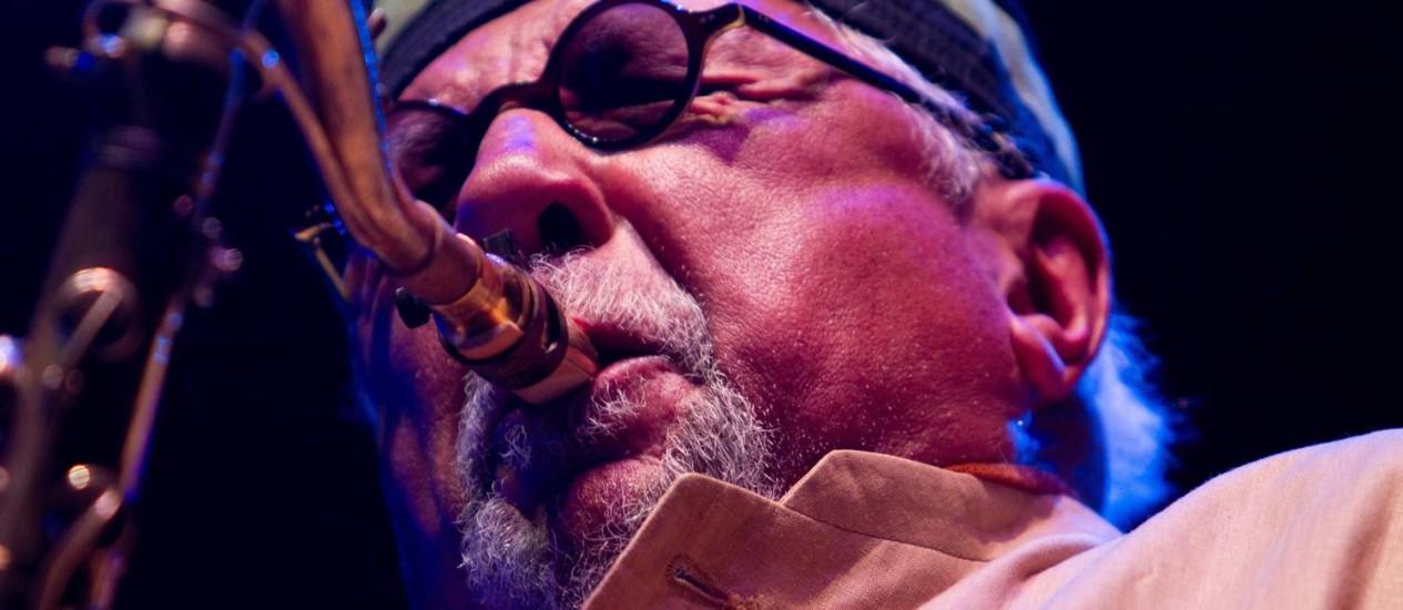 Charles Lloyd: saxofonista esbanjou energia no show em São Paulo Foto: Marcos Hermes / Divulgação