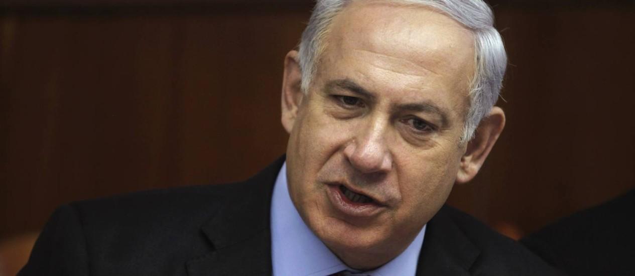 Netanyahu vai precisar usar bota ortopédica por algumas semanas, informou o governo Foto: Baz Ratner / Reuters