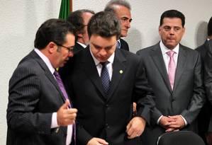 O governador de Goiás Marconi Perillo ao chegar para o depoimento na CPI do Cachoeira Foto: O Globo / Aílton de Freitas