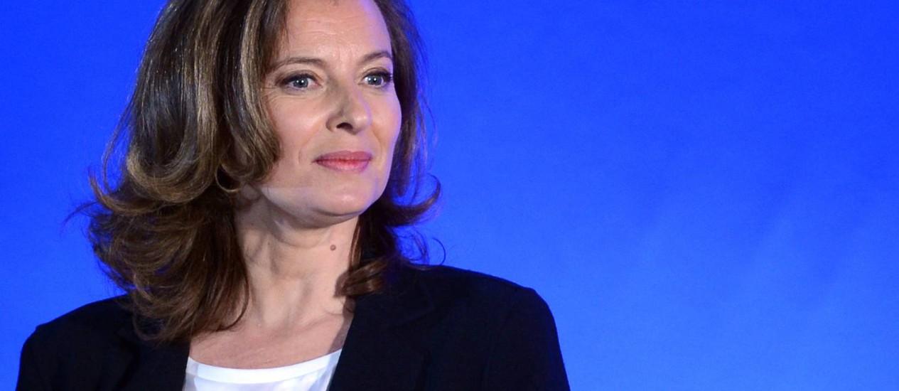 """Valerie Trierweiler e o conselho do """"Le Monde"""": """"Esqueça o Twitter"""" Foto: AFP"""