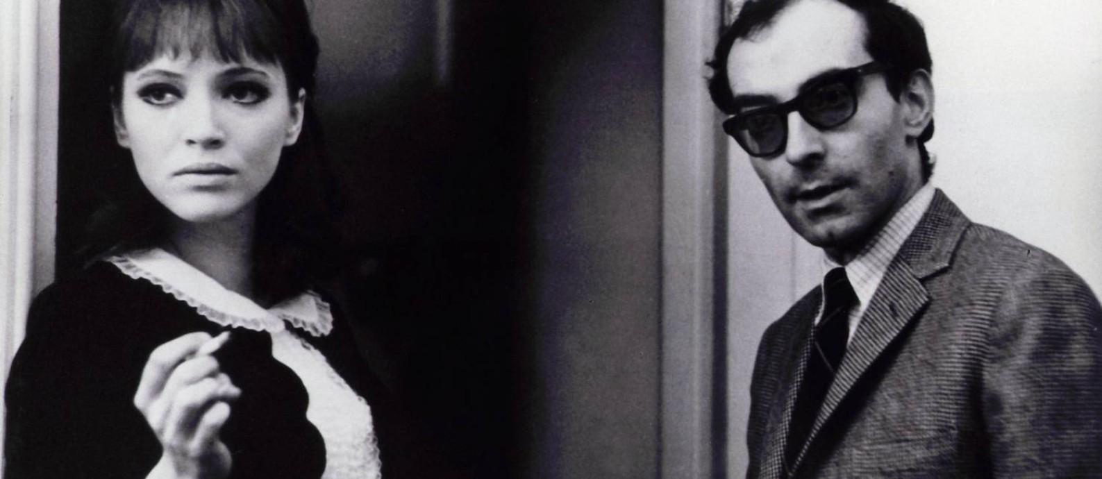 """Anna Karina com Jean-Luc Godard, no set de """"Alphaville"""" Foto: Divulgação"""