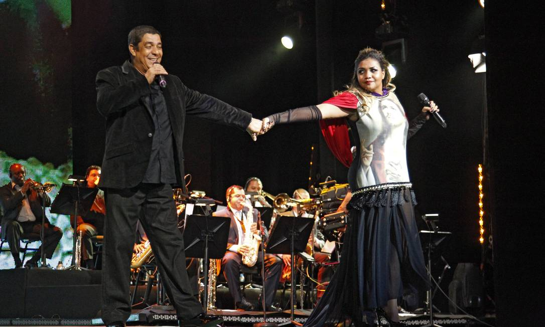 Zeca Pagodinho e Gabi Amarantos fazem dueto Leonardo Aversa / O Globo