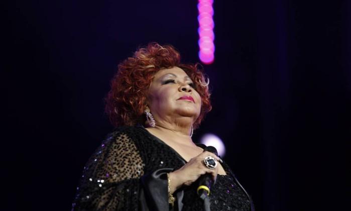 Alcione, melhor cantora na categoria popular, canta 'Quando o amor acontece' Leonardo Aversa / O Globo