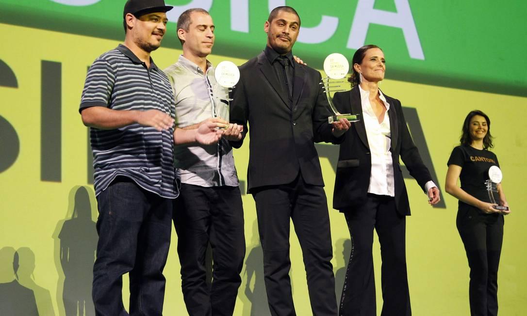 O rapper Criolo foi o grande vencedor da noite com três prêmios Leonardo Aversa / O Globo
