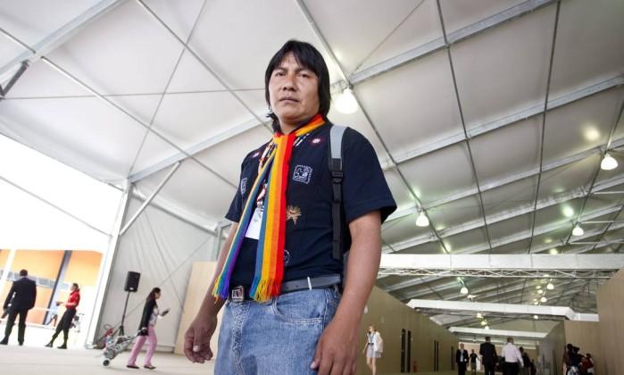 Índio Bartolo Ushigua veio do Equador Márcia Foletto / Agência O Globo