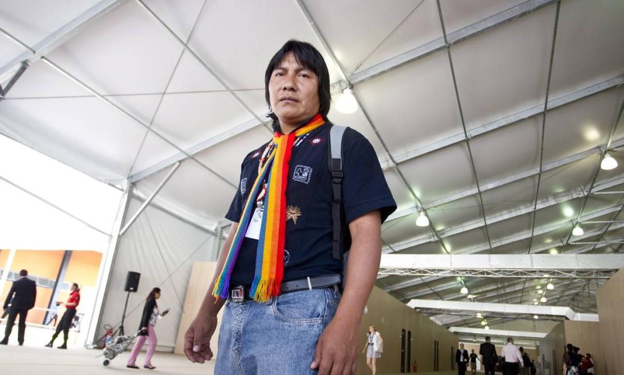 Índio Bartolo Ushigua veio do Equador Foto: Márcia Foletto / Agência O Globo