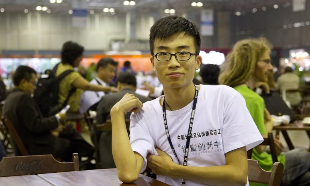 Alex Huang veio da China Márcia Foletto / Agência O Globo