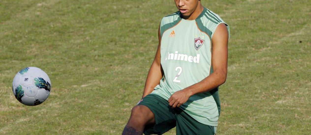 Wallace durante treino nas Laranjeiras Foto: Divulgação / Photocâmera
