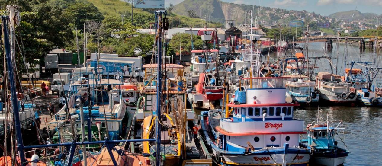 ENGARRAFAMENTO DE embarcações na Ilha da Conceição: antiga fábrica de sardinha funciona provisoriamente como terminal pesqueiro há 20 anos