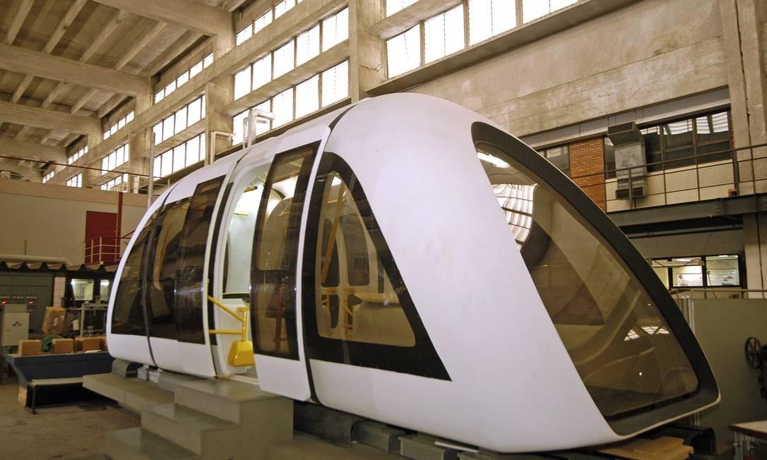 Trem de levitação magnética lançado pela Coppe/UFRJ na Rio+20: previsão é que a construção comece em agosto Foto: Divulgação