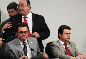 Presidente da CPI, Vital do Rêgo, ao lado do relator, Odair Cunha Foto: Agência O Globo / Ailton de Freitas
