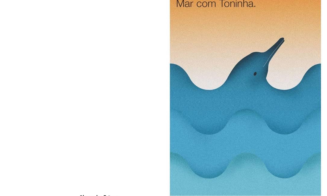 O cartaz de Alexandre Esteves, que será exposto no Jardim Botânico Foto: Divulgação