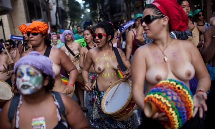 Manifestação toma as ruas do Centro do Rio Felipe Dana / AP