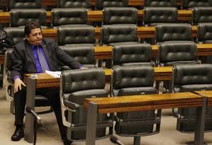 Deputado Stepan Necessian no plenário da Câmara dos Deputados Foto: André Coelho / 16.05.2012