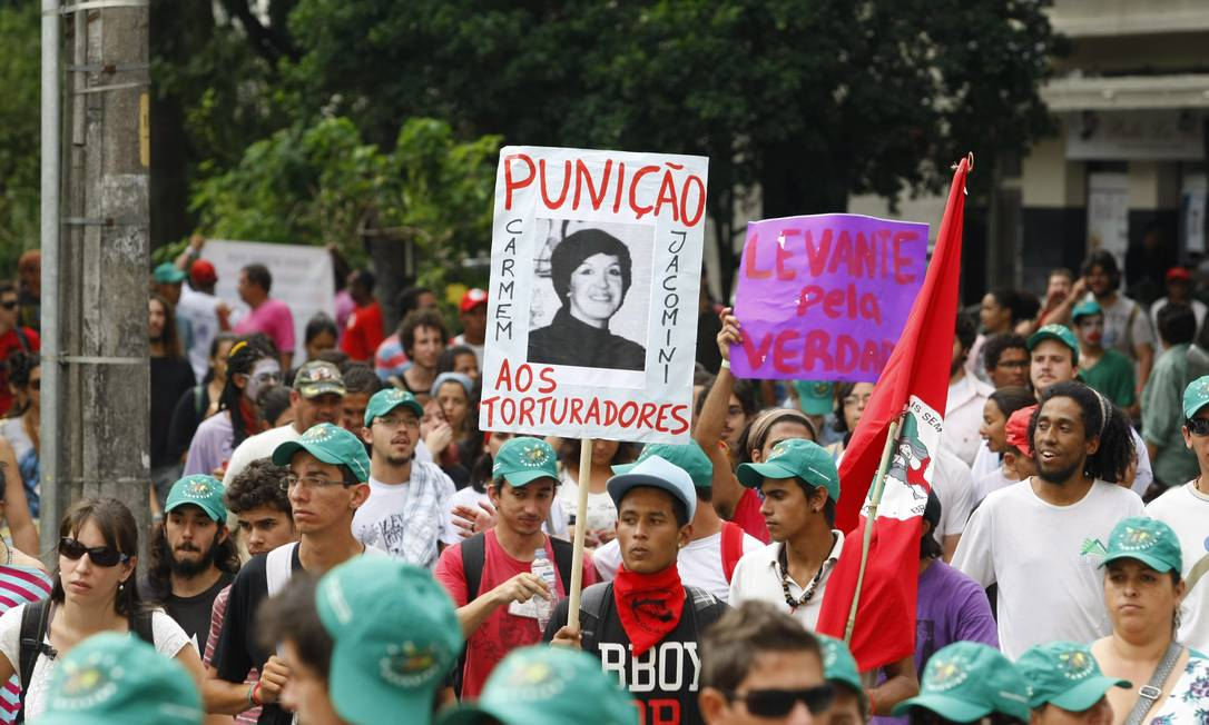 Integrandes do Via Campesina participaram do evento Agência O Globo / Eduardo Naddar