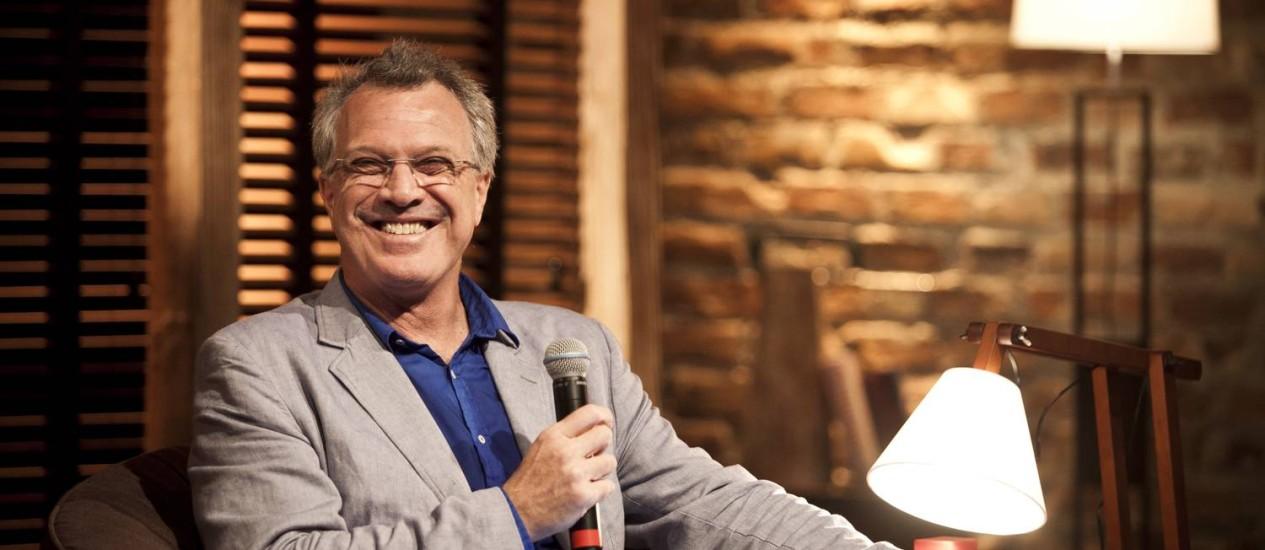 Pedro Bial apresentou novo programa nesta terça Foto: Guillermo Giansanti / O Globo