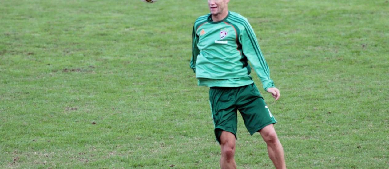 Thiago Neves voltou a treinar no Fluminense na semana passada Foto: Arquivo