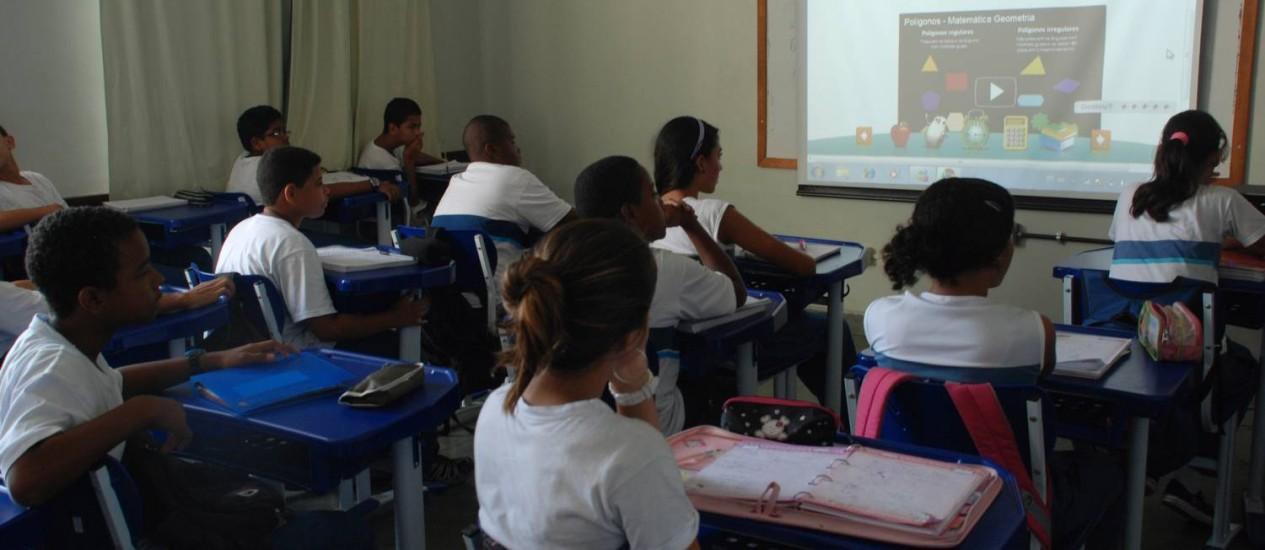 As aulas digitais que já são aplicadas na rede municipal: provas eletrônicas a partir do segundo semestre Foto: Divulgação