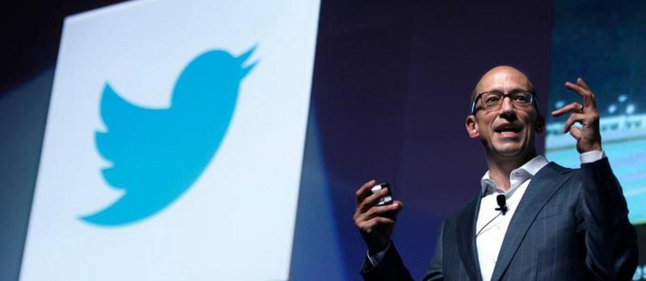 Dick Costolo, presidente-executivo do Twitter, no Festival de Cannes, na França Foto: Reuters