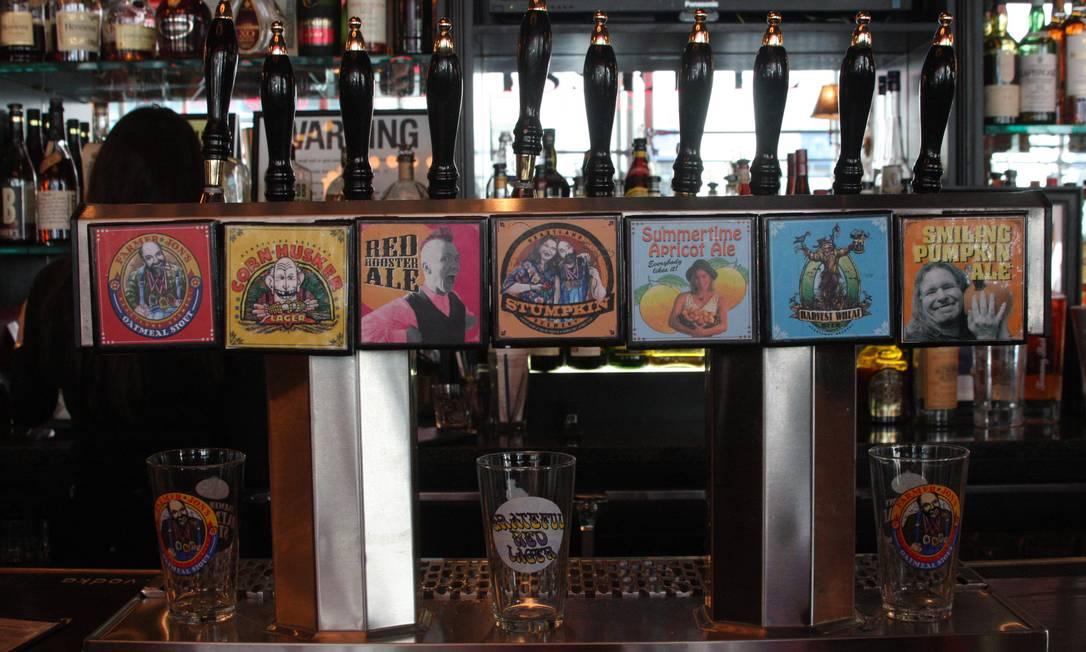 Com sete filiais na cidade, quase sempre junto a cartões-postais como o Empire State, a Heartland Brewery produz diversas variedades de cerveja, entre regulares e sazonais Foto: Bruno Agostini / O Globo
