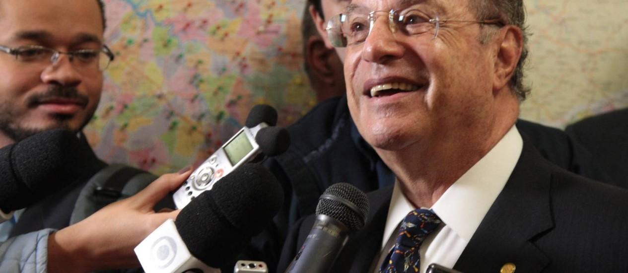 Paulo Maluf: dinheiro estava depositado na Ilha de Jersey, um paraíso fiscal Foto: Marcos Alves / Agência O Globo
