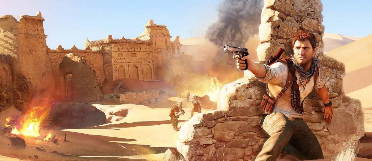 Uncharted 3, game para Playstation 3 Foto: Divulgação