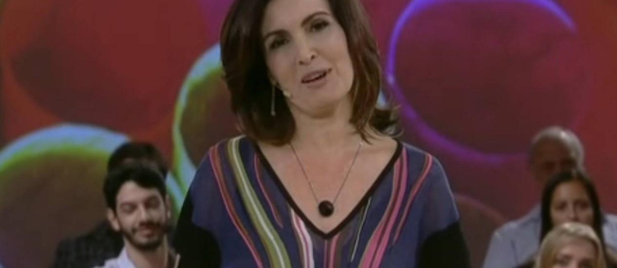 Novo programa de Fátima Bernardes estreou nesta segunda-feira Foto: TV Globo / Reprodução da TV